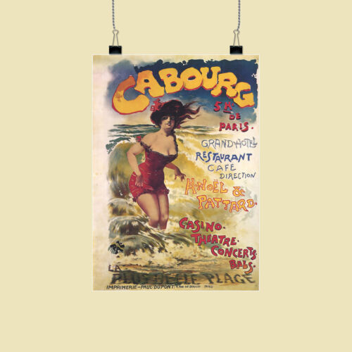 Cabourg Grand Hotel Advertising retro poster print framed//un... various sizes