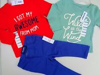 Lot Of 3 Old Navy Light Purple Pants & 2 Tee T-shirt Girls Size 12-18 M
