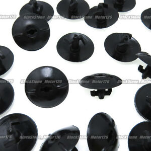 10x Clips For Toyota Audi Bonnet Insulation Clips 90467-09050 Black Plastic