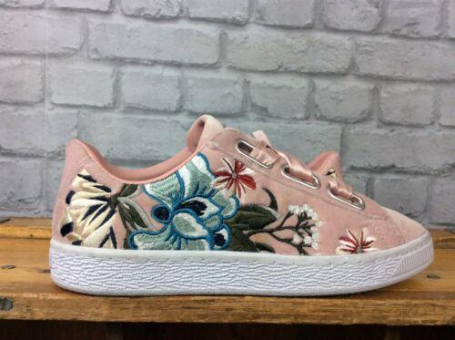 Puma Entrenadores Ladies Uk Velvet Floral Hyper Eu 38 Bordado Basket Heart 5 7F7PawA6rq