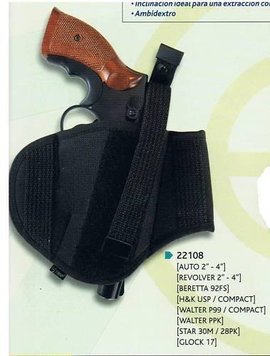 Holster Cordura 22108 révol ou automatiques 2//4 pouces Beret HK Walther GLOCK