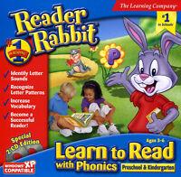 Reader Rabbit Learn To Read With Phonics Preschool Kindergarten 8/7/vista/xp Mac