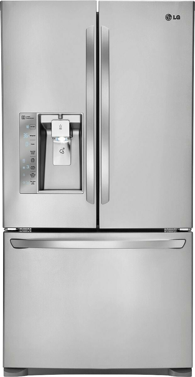 LG LFXC24726S 36 Inch Counter Depth French Door Refrigerator Stainless Steel