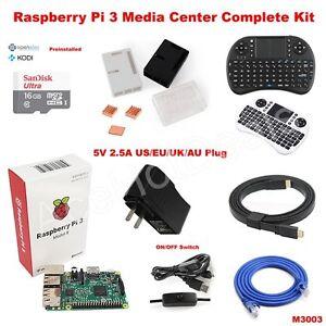 Details about Raspberry Pi 3 Model B wifi OSMC Media Center Complete Kit  M3003