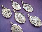 YOU PICK SAINT PENDANT Sterling Silver 925 Saints Religious Patron Medal