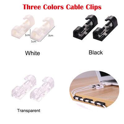 20× Kabelhalter Klebesockel für Kabelbinder Kabelclip Kabelklemme selbstklebend