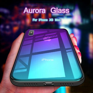 For-iPhone-X-XR-XS-Max-8-7-Luxury-Clear-Tempered-Glass-Case-Rubber-Bumper-Cover