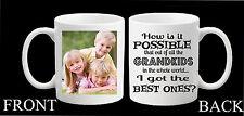 Personalised Photo Mug Best Grandkids Grandchildren Grandad Nanny Grandma Gift
