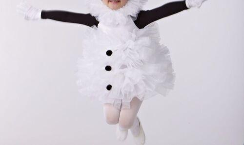 NEW BALLET TAP COSTUME DANCE BLACK WHITE Snowman long sleeve girls