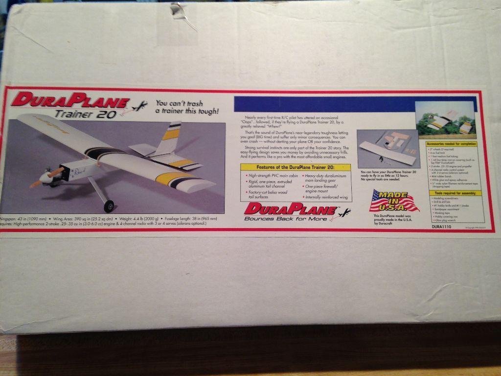 New R C Duracraft Dura Plane Trainer 20 Kit