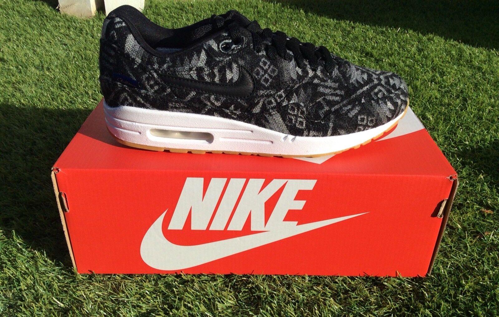 Nike AIR MAX 1 PRM Pendleton Sneaker EUR 41 GRIGIO NERO RARO