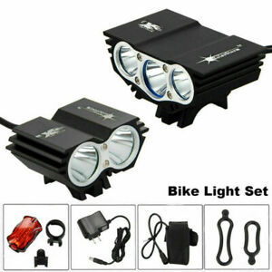 LED Bike Headlight Cycling Bicycle Front /& Rear Tail Light Set Rechargeable Set