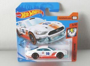Hot-Wheels-2019-Custom-039-18-Ford-Mustang-GT-muscle-Mania-3-10-fyf87-Gulf-nuevo-embalaje-original