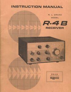 R-L-Drake-Receiver-Model-R-4B-Original-Instruction-Manual