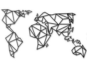 Cartina Del Mondo On Line.Mappa Del Mondo Stilizzata 35x20x0 5 Decorazione Per La Casa Planisfero Muro Ebay
