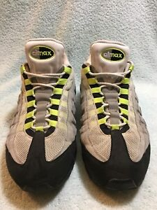 new styles 0a68b ad750 Image is loading 2009-Nike-Air-Max-95-Cool-Grey-Neon-