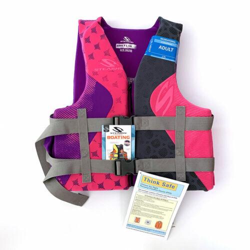 Details about  /Stearns Womens Hydroprene Pink Purple LIFE VEST Wakeboard Jacket Size  L XL