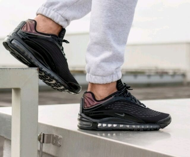 Nike Air Max Deluxe Black, Genuine Authentic Mens Trainers All Size 1 90 97 98