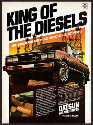 1982 Datsun King Cab Truck Vintage Advertisement Ad P37