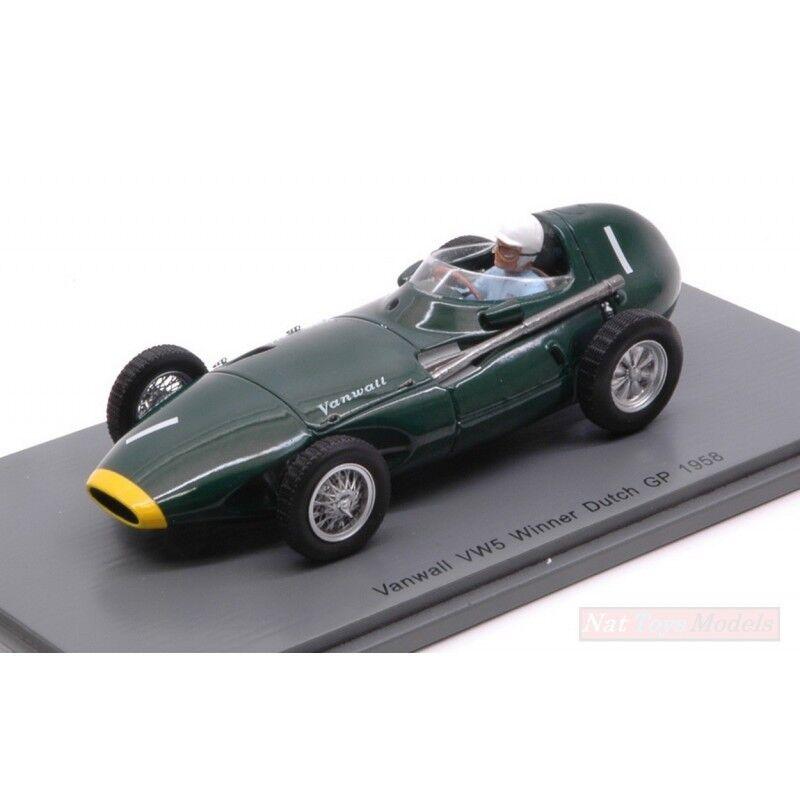 SPARK MODEL S4870 VANWALL VW57 STIRLING MOSS 1958 N.1 WINNER DUTCH GP 1:43 MODEL