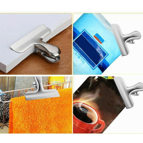 Tight Portable Storage Protection Stainless Steel Food Sealer Bag Clip Grips