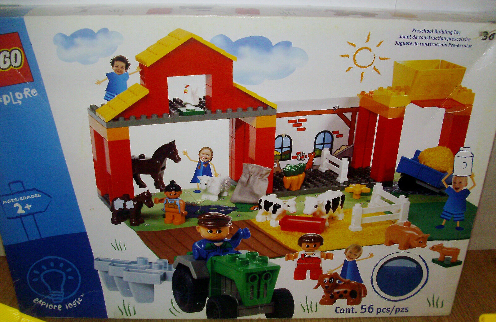 LEGO DUPLO EXPLORE PC FARM SET MULTIPLE BUILDS 2002 ANIMALS HORSES + HTF