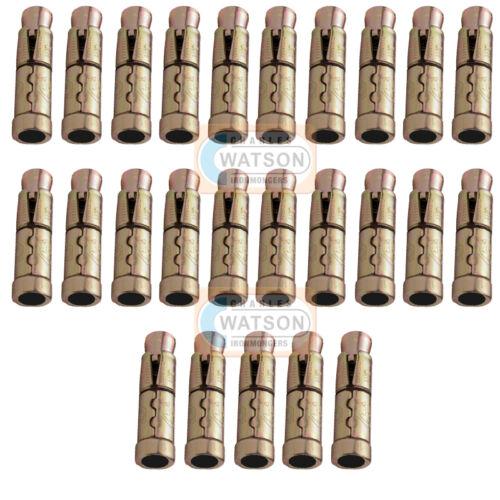 Pack 50 M8x85 HEX NUT SLEEVE ANCHOR Wall Heavy Duty Fixing Brick Masonry Rawl