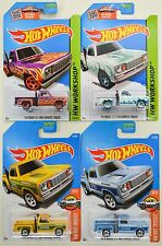 2015 2017 Hot Wheels: '78 DODGE Li'l RED EXPRESS TRUCK - All Colors - 4 Car LOT