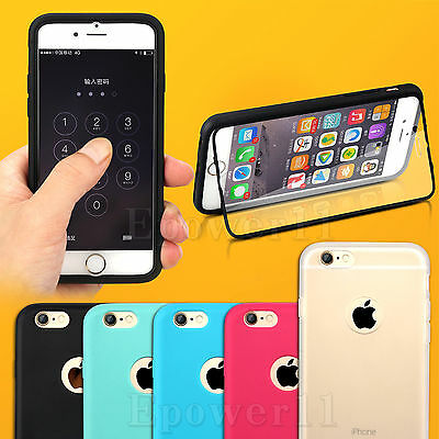 TPU Phone Case Cover For Apple iPhone Samsung Wrap Up Built In Screen Protector
