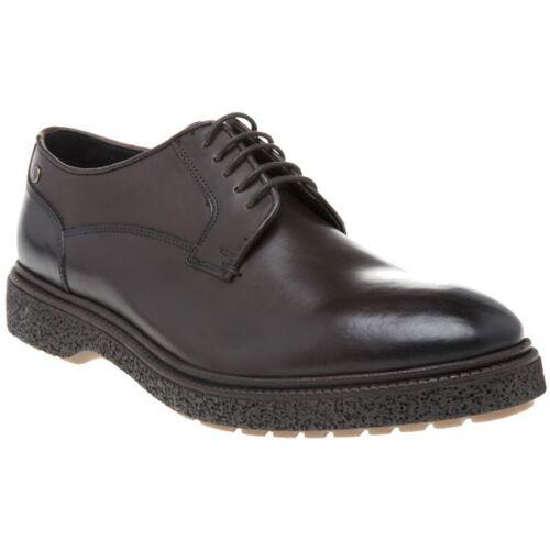 Homme Base London Brown émeute Chaussures Cuir à Lacets