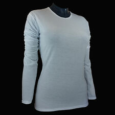 Hot Chillys Womens Base Layer Top Pepper Skins Crew -White- PS3600 - Size Large