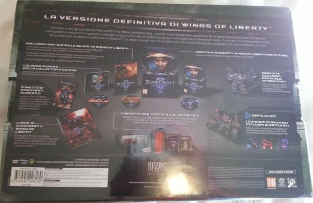 STARCRAFT II 2 WINGS OF LIBERTY COLLECTOR'S LIMITED EDITION PC NUOVA  - ITA