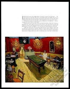 Image Is Loading 1938 Vincent Van Gogh Night Cafe Pool Table
