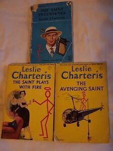 Lesllie-Charteris-THE-AVENGING-SAINT-THE-SAINT-PLAYS-WITH-FIRE-SAINT-INTERVEN