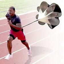 Running Power Chute Speed Training Resistance Exercise Parachute Black DE