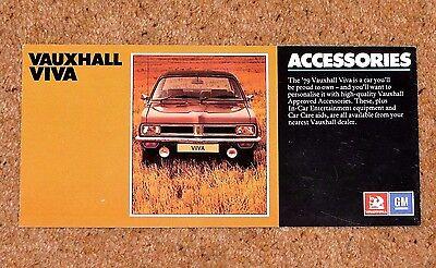 1978-79 Vauxhall Viva Accessories Sales Brochure - Excellent Condition Aantrekkelijke Mode