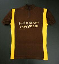 """MAILLOT CYCLISTE VINTAGE VTG CYCLING JERSEY """" DE BAKKERSHOEVE ZAVENTEM """"SZ: 3 /4"""