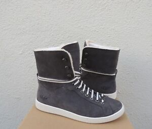 70e04a92533 Details about UGG STARLYN CHARCOAL SHEEPSKIN SNEAKER HIGH TOP ANKLE BOOTS,  US 9.5/ 40.5 ~NIB
