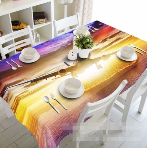 3D Airplane Tablecloth Table Cover Cloth Birthday Party AJ WALLPAPER UK Lemon