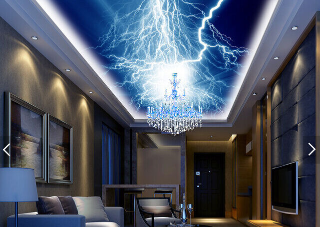 3D Lightning 523 Ceiling WallPaper Murals Wall Print Decal Deco AJ WALLPAPER AU