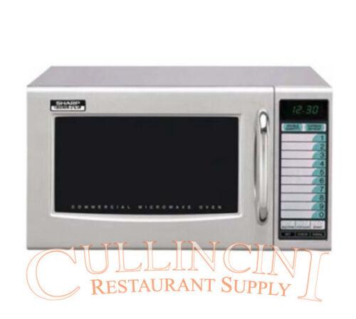 Sharp 1000 Watt Commercial Microwave NSF Medium Duty 120 volt Model R21LVF