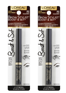 d1a94feac07 Lot of 2, Loreal Brow Stylist Boost and Set Brow Mascara, 460 Clear ...