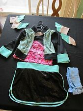 Monster High Lagoona Blue Girl's Halloween Costume Size M Medium Dress Up