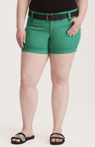 in con raso Pantaloncini verde cintura Tag Torrid Plus New Size Donna PCn7qwd