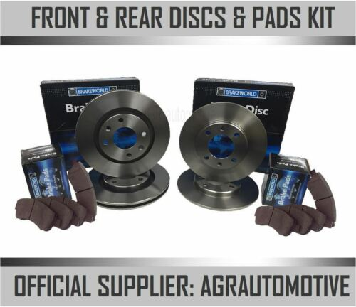 REAR DISCS AND PADS FOR PEUGEOT 307 2.0 TD 90 BHP 2001-08 OPT3 OEM SPEC FRONT