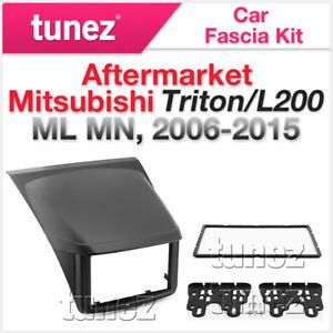 Mitsubishi-Triton-L200-2006-2015-ML-MN-Fascia-Facia-Kit-Double-DIN-Dash-Panel-OZ