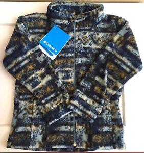 0806e198f Columbia 4T Toddler Kids Zing III Storm Retro Print Zip Up Fleece ...