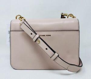c289daba94c4 Michael Kors Mott Charm Swag Large Leather Bag Soft Pink Retail $298 ...