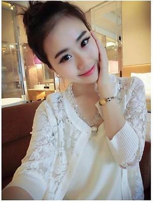 Hot Lace Loose Big Yards Korean Knit Women Slim Sunscreen Jacket Coats C250