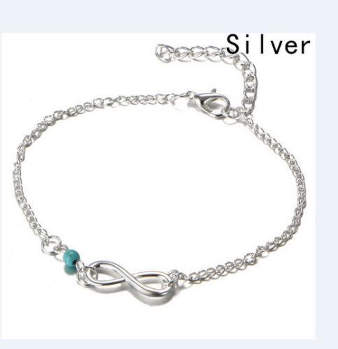 Fußkettchen Fusskette  Farbe Silber Schmuck Armkette 104 A